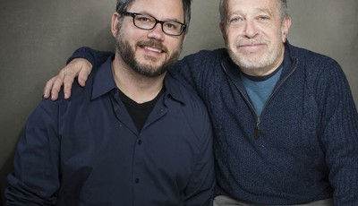 "This Jan. 21, 2013 photo shows director Jacob Kornbluth, left, and author, economist and former Secretary of Labor Robert Reich from the film ""Inequality For All"" during the 2013 Sundan"