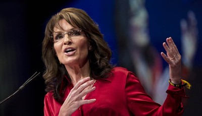 FILE - In this Saturday, Feb. 11, 2012 file photo, Sarah Palin, the GOP candidate for vice-president in 2008, and former Alaska governor, delivers the keynote address to activists from
