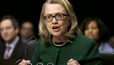 FILE - In this Jan. 23, 2013, file photo, Secretary of State Hillary Rodham Clinton testifies on Capitol Hill in Washington, on the deadly September attack on the U.S. diplomatic missio