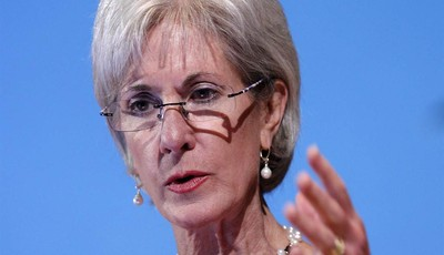 FILE - In this May 15, 2012 file photo, Health and Human Services Secretary Kathleen Sebelius speaks in Bethesda, Md. Facing a wave of lawsuits over what government can tell religious g