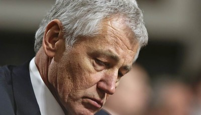 FILE - In this Jan. 31, 2013, file photo  Republican Chuck Hagel, a former two-term GOP senator from Nebraska and President Obama