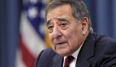 FILE - In this Feb. 13, 2013 file photo, outgoing Defense Secretary Leon Panetta speaks during his last news conference as defense secretary. at the Pentagon. The U.S.-led military coal