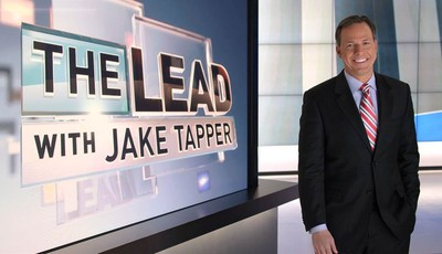 """This undated image from video provided by CNN shows Jake Tapper on the set of his show """"The Lead with Jake Tapper."""" Tapper says he wants the show to be a broad look at the news, encompa"""