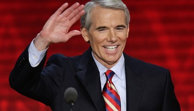 FILE - In this Aug. 29, 2012, file photo, Sen. Rob Portman, R-Ohio, waves to the delegates during the Republican National Convention in Tampa, Fla. Portman said Thursday, March 14, 2013