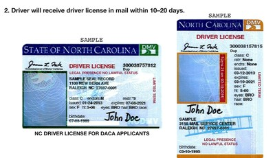 This image shows a portion of press release distributed by the North Carolina Department of Motor Vehicles which illustrates new driver