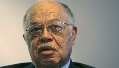 FILE - In this March 8, 2010 file photo, Dr. Kermit Gosnell is seen during an interview with the Philadelphia Daily News at his attorney