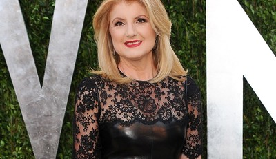 FILE - This Feb. 24, 2013 file photo shows Arianna Huffington arrives at the 2013 Vanity Fair Oscars Viewing and After Partyl in West Hollywood, Calif. A lawsuit accuses Huffington Post