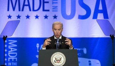 Vice President Joe Biden speaks at the 2013 Annual Conference of the Export-Import Bank in Washington, Friday, April 5, 2013. (AP Photo/Manuel Balce Ceneta)