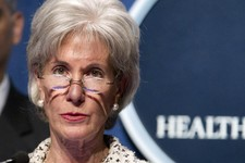 -                FILE - In this Feb. 14, 2012 file photo, Health and Human Services (HHS) Secretary, Kathleen Sebelius speaks at HHS headquarters in Washington. Federal fraud busters invited the news me