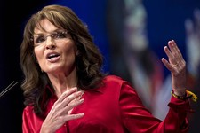 -                FILE - In this Feb. 11, 2012 file photo, Sarah Palin, the GOP candidate for vice-president in 2008, and former Alaska governor speaks in Washington. Palin on Sunday, Aug. 12, 2012 said