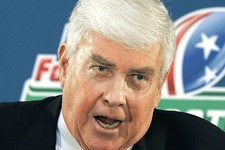 -                FILE - In this Aug. 25, 2006 file photo, Jack Kemp speaks Jackson, Miss. The list of Paul Ryan's mentors includes some of the biggest conservative names of recent decades, including Jac