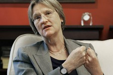 -                FILE - In this June 30, 2009 file photo, Harvard University President Drew Faust speaks during an interview with The Associated Press on the Harvard campus in Cambridge, Mass. Faust sai