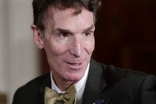 "-                FILE - In an Oct. 18, 2010, file photo, Bill Nye, host of television's ""Bill Nye the Science Guy,"" arrives as President Barack Obama hosts a White House science fair in Washington. Nye"