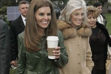 -                FILE -- In this Jan. 4, 2007 file photo, Maria Shriver, left, wife of California Gov. Arnold Schwarzenegger, her mother, Eunice Kennedy Shriver, center and family housekeeper Mildred Ba