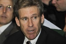 -                FILE - In this April 11, 2011 file photo, U.S. envoy Chris Stevens attends meetings at the Tibesty Hotel in Benghazi, Libya, where an African Union delegation was meeting with oppositio