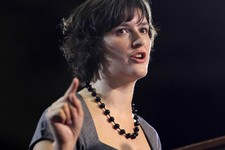 -                FILE - This Aug. 8,2012 file photo shows Georgetown University law student student Sandra Fluke introducing President Barack Obama at a campaign event in Denver. Dozens of celebrities,