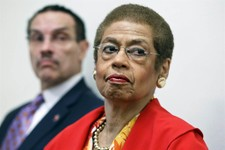 -                FILE - In this May 29, 2012 file photo, Del. Eleanor Holmes Norton, D-D.C., a non-voting delegate in the House of Representatives, right, accompanied by Washington Mayor Vincent Gray, t