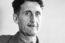 -                FILE - In this file photo, writer George Orwell poses in this undated photo at an unknown location. Pearson PLC will merge its Penguin Books division with Random House, which is owned b