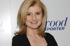-                FILE - In this April 11, 2012 file photograph released by Hollywood Reporter Arianna Huffington at The Hollywood Reporter 35 Most Powerful People in Media event in New York. Oprah Winfr