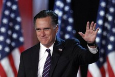 -                FILE - This Nov. 7, 2012 file photo shows Republican presidential candidate, former Massachusetts Gov. Mitt Romney waving to supporters at an election night rally in Boston. Romney's sh