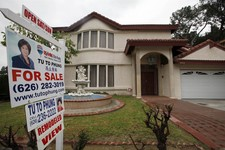 "-                In this Thursday Nov. 8, 2012, photo, a house is shown ""for sale"" in Monterrey Park, Calif.  Average U.S. rates on fixed mortgages ticked up this week just slightly above their record l"