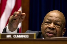 -                FILE - Rep. Elijah Cummings, D-Md., ranking Democrat on the House Oversight and Government Reform Committee speaks on Capitol Hill in Washington, in this Feb. 16, 2012 file photo. The H