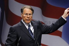 -                FILE - In this Feb. 10, 2011, file photo, National Rifle Association Executive Vice President and CEO Wayne LaPierre speaks in Washington. The next big issue in the national debate over