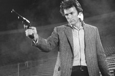 "-                This image released by Warner Bros. shows Clint Eastwood in a scene from the move ""Dirty Harry."" Memorable movies, including ""Breakfast at Tiffany's,"" ""Dirty Harry,"" ""A League of Their"