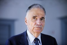 -                FILE - In this Aug. 20, 2009 file photo, former independent presidential candidate Ralph Nader poses for a photo in Washington. Maine's highest court is hearing oral arguments Wednesday