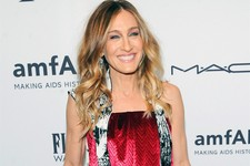 -                FILE - This Feb. 6, 2013 file photo shows actress Sarah Jessica Parker at amfAR's New York gala at Cipriani Wall Street in New York. Parker is donating a pair of Dolce Vita Pumps for a