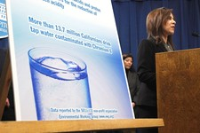 -                File - In this Feb. 22, 2011 file photo, Assemblywoman Nora Campos, D- San Jose, discusses her proposed measure that, if approved, will require California health regulators to establish