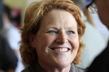-                FILE - In this Nov. 5, 2102 file photo, then-Democratic Senate candidate, now Sen. Heidi Heitkamp, D-N.D. smiles as she speaks in Grand Forks, N.D. There is little mystery, from a campa