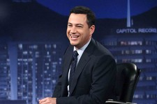 "-                FILE - This July 25, 2012 photo released by ABC shows Jimmy Kimmel hosting his late night show ""Jimmy Kimmel Live,"" in the Hollywood section of Los Angeles.  Kimmel said on Friday, Jan."