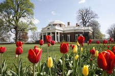 -                FILE- This April 22, 2009, file photo, shows former President Thomas Jefferson's home, Monticello, in Charlottesville, Va. A $10 million gift from a Washington philanthropist is poised