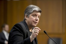 -                Homeland Security Secretary Janet Napolitano testifies on Capitol Hill in Washington, Tuesday, April 23, 2013, before the Senate Judiciary Committee hearing on immigration reform. (AP P