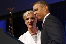 -                CORRECTS FIRST AND LAST NAME OF PLANNED PARENTHOOD CHAIR - President Barack Obama is introduced by Cecile Richards, chair of the board of Planned Parenthood, before speaking at the 2013