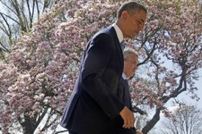 -                FILE - In this April 10, 2013 file photo President Barack Obama and acting Budget Director Jeffrey Zients leave the Rose Garden of the White House in Washington after the president disc