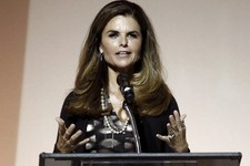 -                FILE - This May 1, 2012 file photo shows Maria Shriver speaking at the 7th Annual MOCA Award to Distinguished Women in the Arts luncheon in Beverly Hills, Calif. NBC announced announced