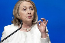 -                FILE - In this April 2, 2013 file photo, former Secretary of State Hillary Rodham Clinton speaks in Washington. Clinton and New York Gov. Andrew Cuomo are among a group of potential 201