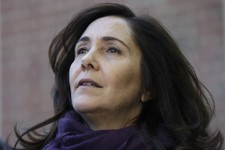 -                Mariela Castro, daughter of Cuban President Raul Castro visits a historical marker commemorating public demonstrations for gay and lesbian equality, Friday, May 3, 2013, in Philadelphia