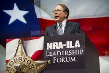 -                NRA Executive Vice President and Chief Executive Officer Wayne LaPierre speaks during the leadership forum at the National Rifle Association's annual meeting Friday, May 3, 2013 in Hous