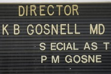 -                Letters are missing from the directory of Dr. Kermit Gosnell's former facility, the Women's Medical Society, in Philadelphia on Wednesday, May 1, 2013. Gosnell, who catered to poor wome