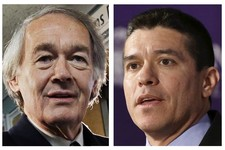 -                FILE - This panel of 2013 file photos show Democrat U.S. Rep. Ed Markey, left, and Republican Gabriel Gomez, right, candidates for U.S. Senate in the June 24, 2013 special election, bei