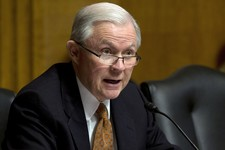 -                FILE - In this March 18, 2013 file photo the Ranking Member of the Senate Judiciary Committee, Republican Sen. Jeff Sessions, R-Ala., asks a question during the committees's hearing on