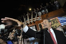 -                Former South Carolina Gov. Mark Sanford gives his victory speech after wining back his old congressional seat in the state's 1st District on Tuesday, May 7, 2013, in Mt. Pleasant, S.C.