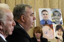 "-                Boston Police Commissioner Edward Davis testifies before the House Homeland Security Committee at a hearing on ""The Boston Bombings: A First Look,"" on Capitol Hill in Washington, Thursd"