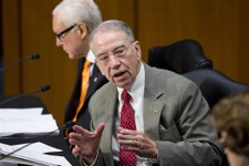 -                Sen. Chuck Grassley, R-Iowa, ranking member of the Senate Judiciary Committee, defends his amendment to prohibit anyone from obtaining legal status until the Homeland Security Departmen
