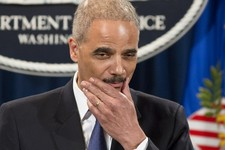 -                Attorney General Eric Holder pauses during a news conference at the Justice Department in Washington, Tuesday, May 14, 2013. Holder said he's ordered a Justice Department investigation