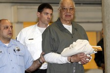 -                Dr. Kermit Gosnell is escorted to a waiting police van upon leaving the Criminal Justice Center in Philadelphia, Monday, May 13, 2013, after being convicted of first-degree murder in th
