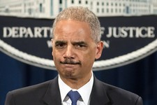 -                Attorney General Eric Holder is questioned about the Justice Department secretly obtaining two months of telephone records of reporters and editors for The Associated Press, during a ne